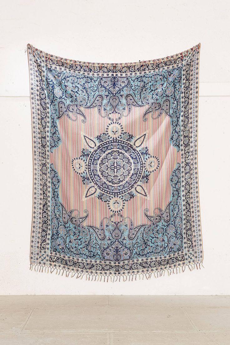 Slide View: 3: Plum & Bow Estelle Medallion Tapestry