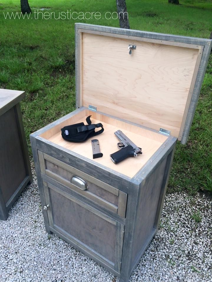 Custom Built Nightstand With Hidden Gun Storage. Built By The Rustic Acre  In College Station