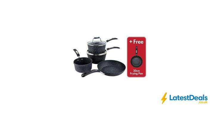 Scoville Neverstick 5 Piece Cookware Set + Free Frying Pan *HALF PRICE* Free C&C, £30 at ASDA