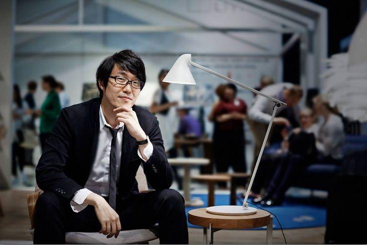 Oki Sato, the designer of NJP Table lamp.  Photo: Martin Sølyst