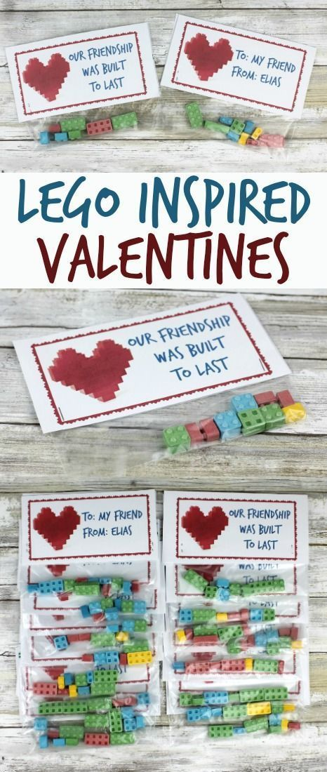 LEGO inspired classroom Valentines