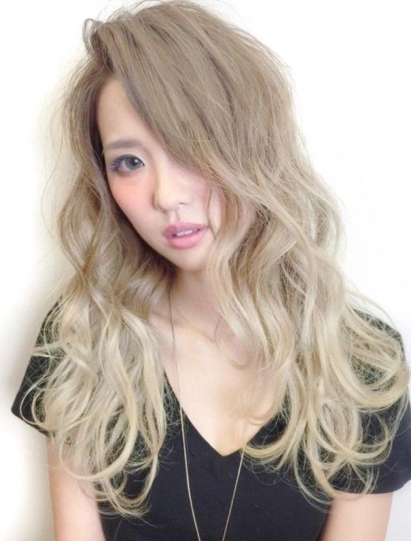 light ash blonde asian hair