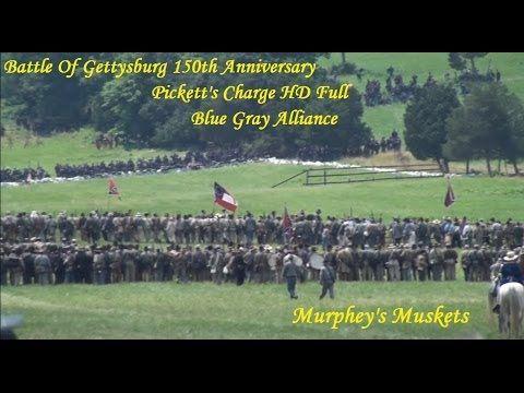 Battle Of Gettysburg 150th Pickett's Charge HD Full BGA - YouTube