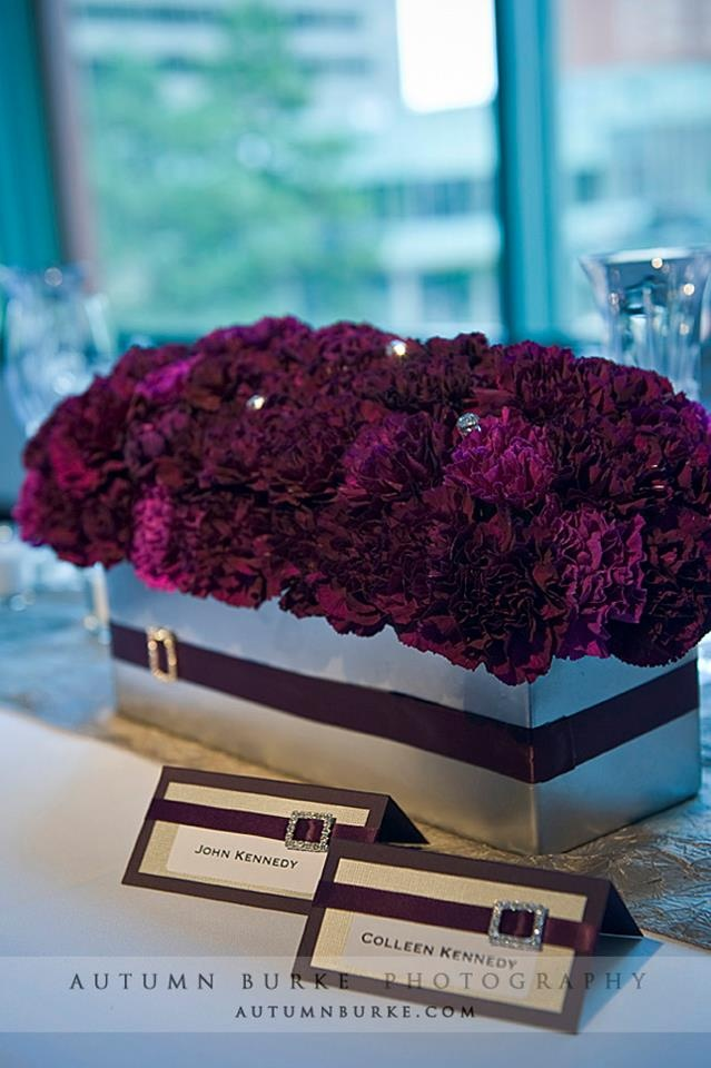 Carnations aren't usually my favorite but when they are massed together (and mixed with other flowers) they have a great impact for little $$