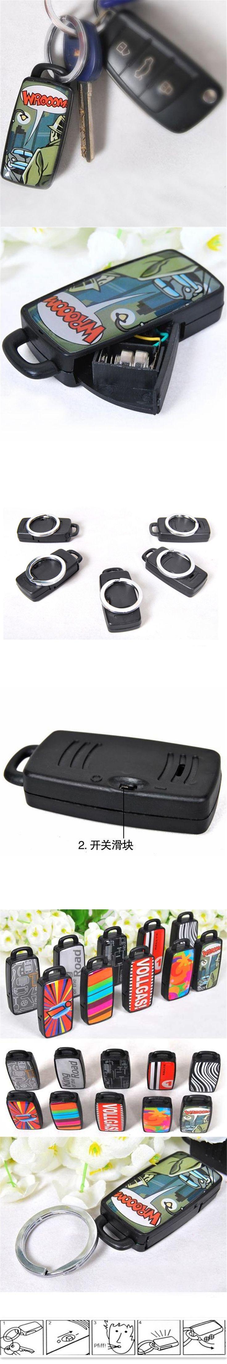 HLEST 1pcs Car Key Finder Locator Lost Keys Chain Keyring Whistle Sound Seeker Car Keychain Remote