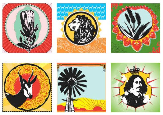 Kiekie images offer a fresh approach to Boere, Botanic & Curio – iconic, funky designs all with an über cool twist to South Africa's legacy!  Designed in Stanford, Western Cape, by a talented graphic design duo.