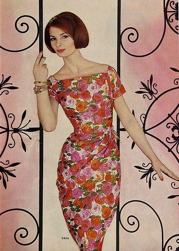 floral dress  McCalls 1961