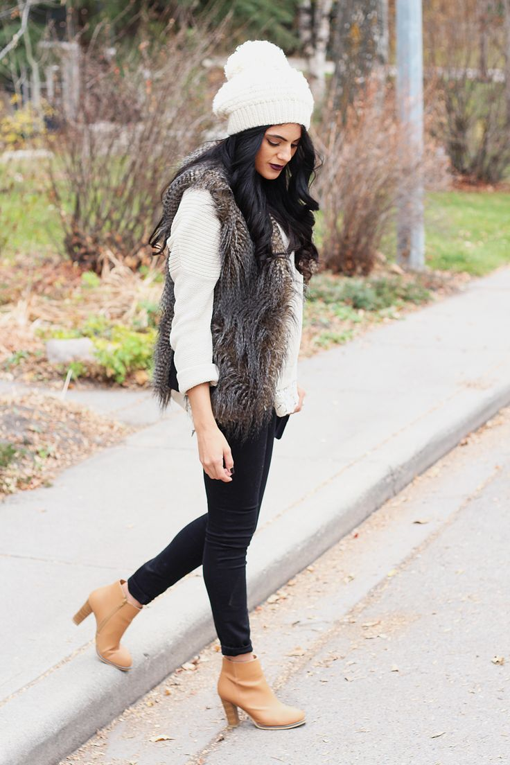 Convey the Moment: Faux-Fur Vest: