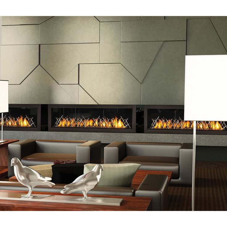 Napoleon 62 in. Linear Direct Vent Fireplace - LHD62SB