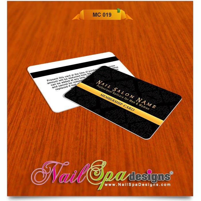 50 best Nail Spa Membership Card Design images on Pinterest | Card ...