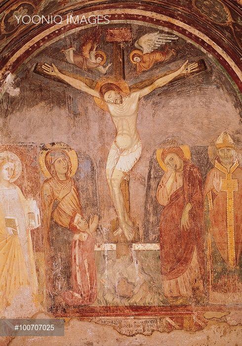 Crocifissione, da probabilmente Giotto, 1267 circa - 1337, 13 Secolo - 14 ° secolo, affresco abbattuto. Italia, Lazio, Roma, Museo Nazionale di Palazzo Venezia