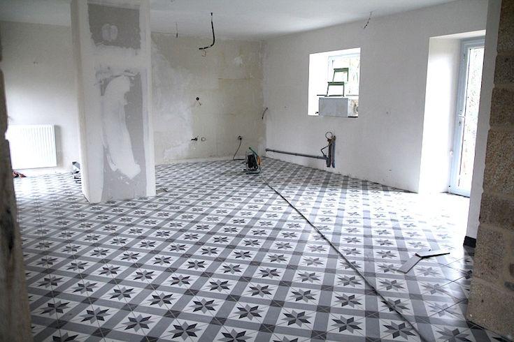 Carrelage imitation carreaux de ciment point p in 2019 - Carrelage imitation parquet point p ...
