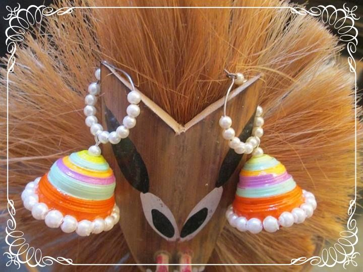 handmade neon hoop jhumkas by chocolates and creativity corner