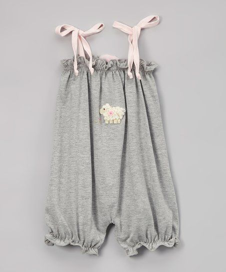 Victoria Kids Silver Lamb Sleeveless Bubble Romper - Infant & Toddler | zulily
