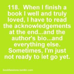 Bookfessions...Then reading the reviews and getting excited when someone feels the same way about the book(s) as you, or defensive if someone doesn't like it. It's a problem...