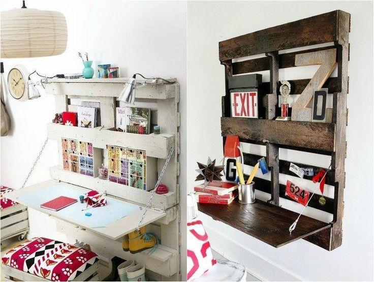 Bureau en bois 34 id es diy tr s cool en palette europe for Idee palette de bois