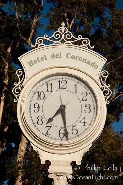 Old fashioned clock at the Hotel Del, Coronado, San Diego. San Diego, California, USA, natural history stock photograph, photo id 27109.... want to go back again!!
