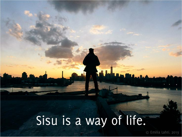 Sisu is much more more than a character strength, it is an entire life philosophy. It is a set of values rooted in integrity, honesty and courage. All of which are good base for a functioning society - if we choose to live by them. Image: Slide from the presentation at the 3rd World Congress on Positive Psychology in LA (June 2013).