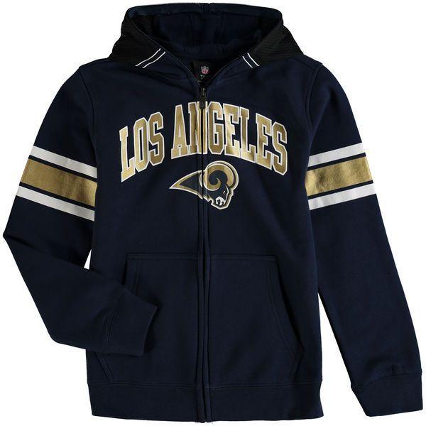 Los Angeles Rams Youth Fan Gear Helmet Full-Zip Hoodie - Navy - $54.99