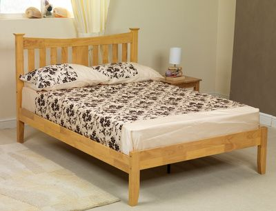 sweet dreams kingfisher double oak bed frame low footend - Low Wood Bed Frame