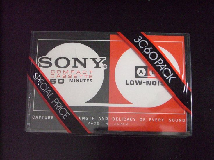 3 SONY VINTAGE  AUDIO CASSETTE TAPES ( NEW ) \ 1972 \ MADE IN JAPAN #Sony