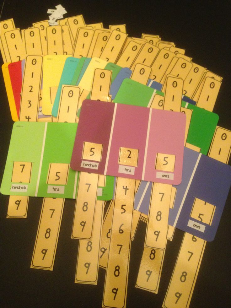 Grade 2 Math Number A7: Place Value paint swatch cards--what a clever and colorful tool to make (in grade 2, don't have to go beyond 100, but they could try) - to match other representations in a center