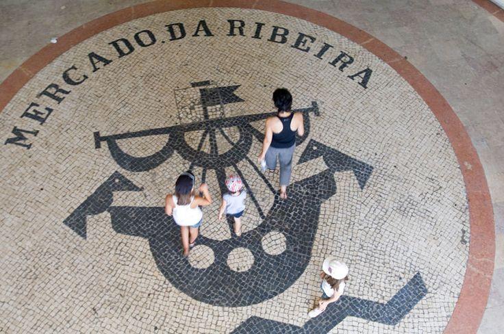 Calçada Portuguesa at Mercado da Ribeira
