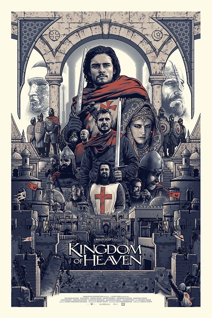 Kingdom Of Heaven By Amien Juugo Home Of The Alternative Movie Poster Amp Kingdom Of Heaven Poster Art Alternative Movie Posters
