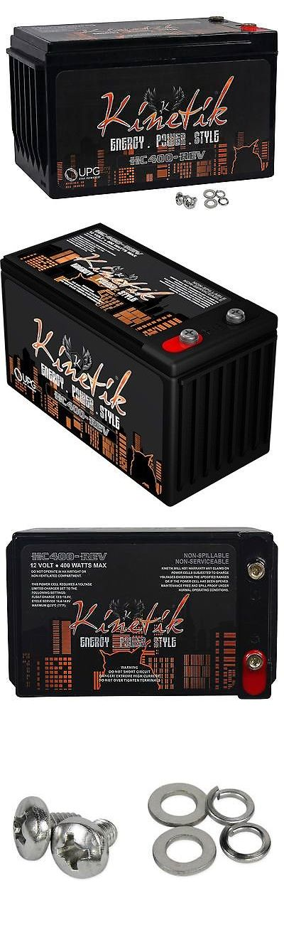 Capacitors: Kinetik Hc400-Rev 400 Watt 12V Agm High Current Car Audio Power Cell Battery -> BUY IT NOW ONLY: $41.99 on eBay!