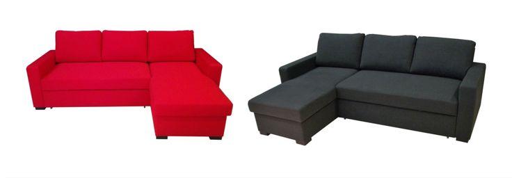 nowoczesne sofy rozkładane, a właściwie narożniki z funkcją spania oraz pojemnikiem na pościel