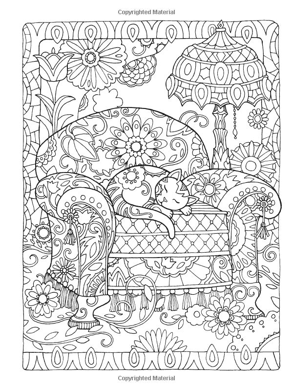 dover publications creative haven creative cats coloring book artwork by marjorie sarnat - Creative Coloring Sheets