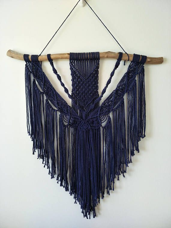 THIS COTTON IS AUSTRALIAN GROWN- PLEASE SUPPORT OUR FARMERS BY BUYING LOCALLY!  Macrame cotton cord- 3 mm width Length- approx 100 m Weight- 200 g Colour- navy Fibre- single twist 100% cotton  Navy hand dyed macrame cotton, this was my first time dying cord and man was it hard work! worth it in the end though This cotton is super soft and will fray naturally on the ends, once you have cut your pieces,you can light a white candle and dip the ends in melted wax if you do not want the frayed…