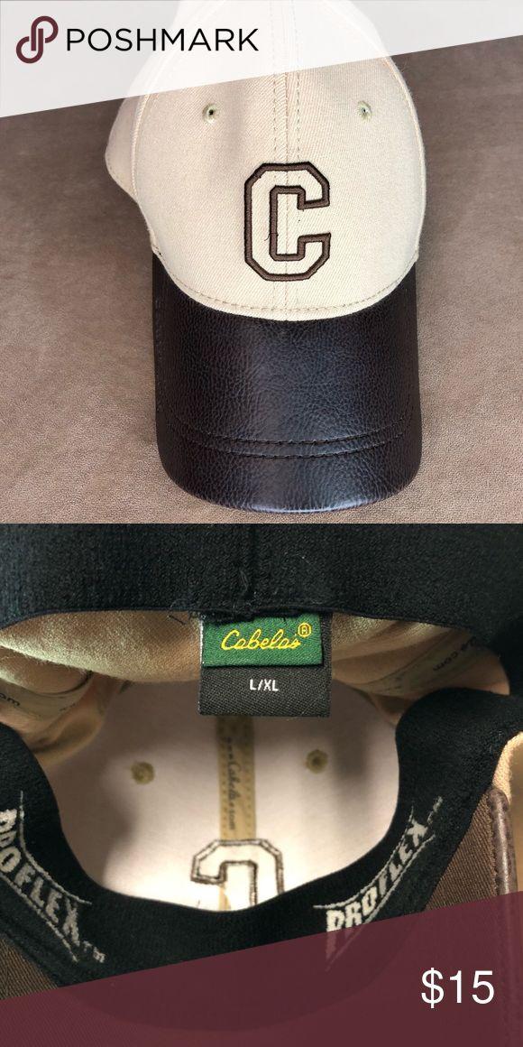 c45c0e58e31ab Cabelas Classic Hat Cabelas classic tan and brown proflex hat. Great  condition. Cabela s Accessories Hats