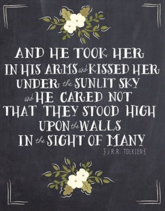 Tolkien... one of the most stunning parts. It took my breath away                   Love Faramir and Eowyn