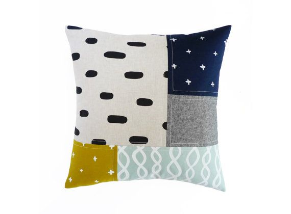 Patterned Patchwork Pillow