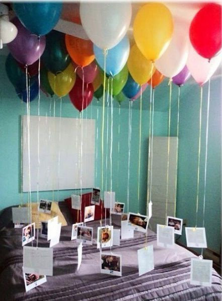 Balloons with photos of memories tied to the bottom is a sentimental and thoughtful proposal idea. Let her pop all of the balloons to find the ring. You can fill the rest of the balloons with sweets, glitter or flowers.