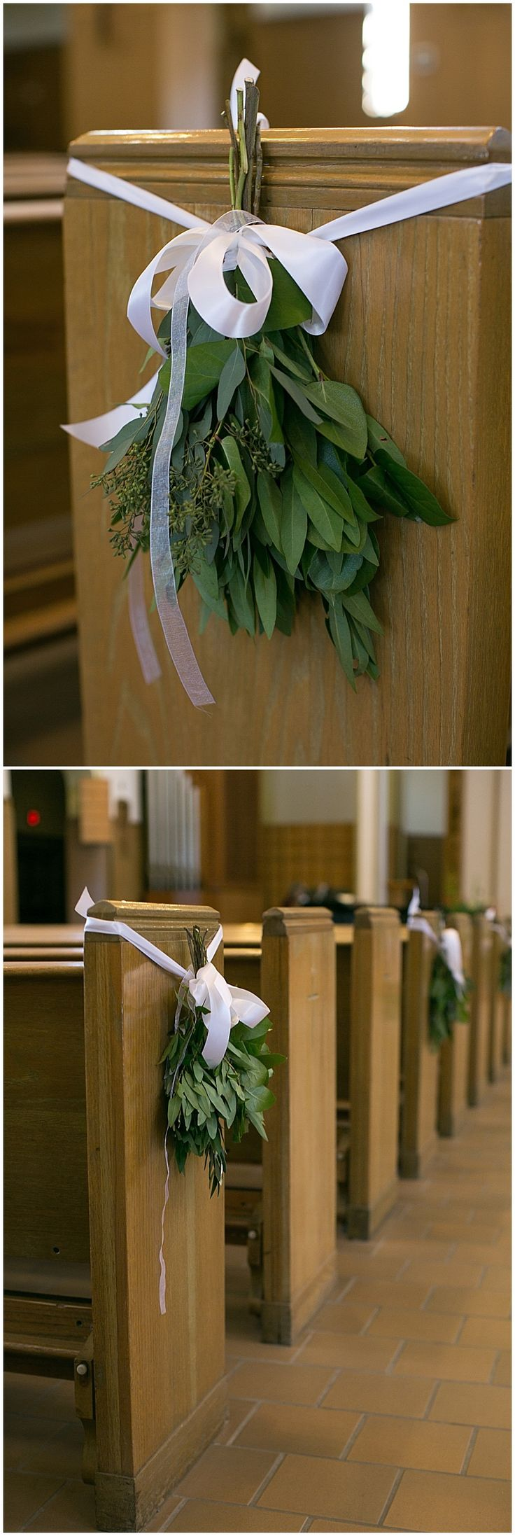 Church wedding aisle decor designed by Minneapolis wedding florist Artemisia Studios. Photos by Erin Johnson Photography (http://erinjohnsonphoto.com/) #wedding #churchwedding #weddingdecor #aisledecor #indoorwedding #winterwedding #flowers #minneapolisweddingflorist #saintpaulweddingflorist #artemisiastudios