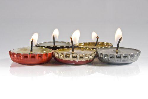 Até o dia do casamento: Mini velas de lápis de cera - DIY