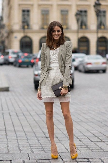Neutrals: Oliviapalermo, Mustard Shoes, Street Styles, Styles Icons, Yellow Shoes, Yellow Heels, Olivia Palermo, Work Outfit, Mustard Yellow