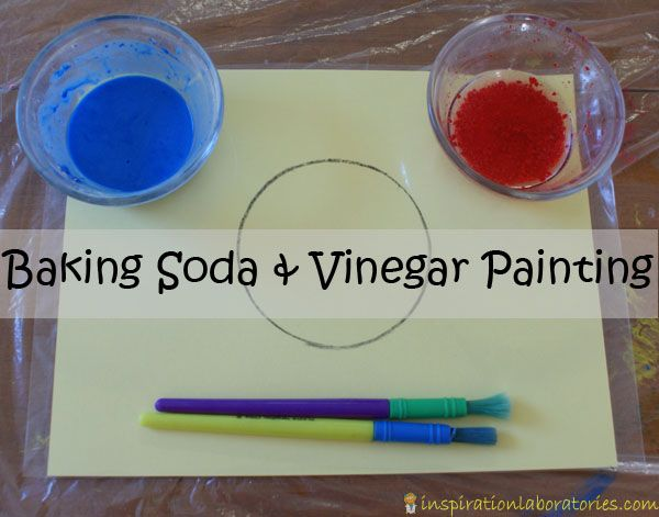 Baking Soda and Vinegar Painting for tots. Guest post by Inspiration Laboratories on Rainy Day Mum