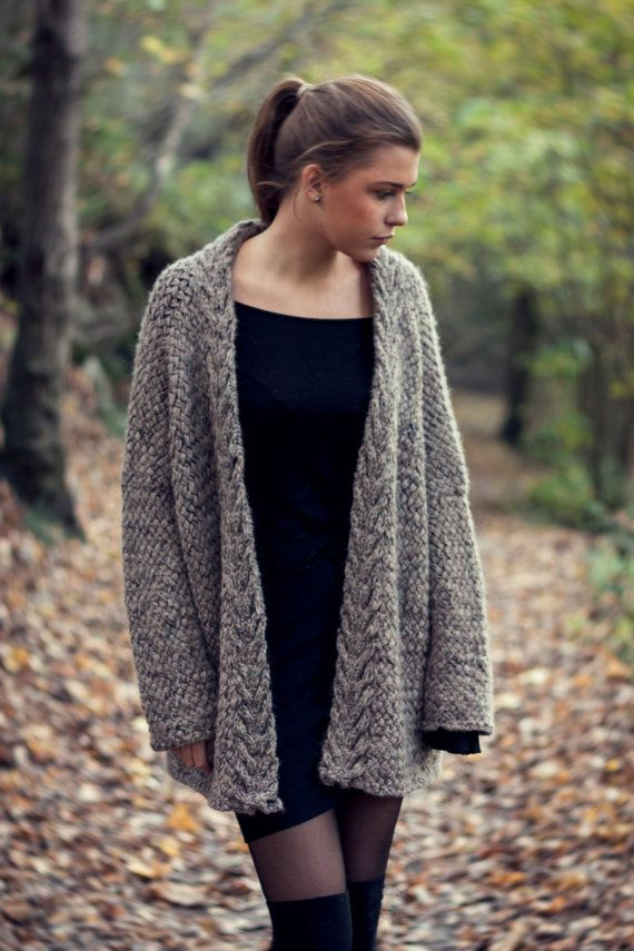 Knitting PATTERN - Digital PDF download - for a beautiful basket weave knit cardigan. Oversized, relaxed fit. Important:This is not the physical