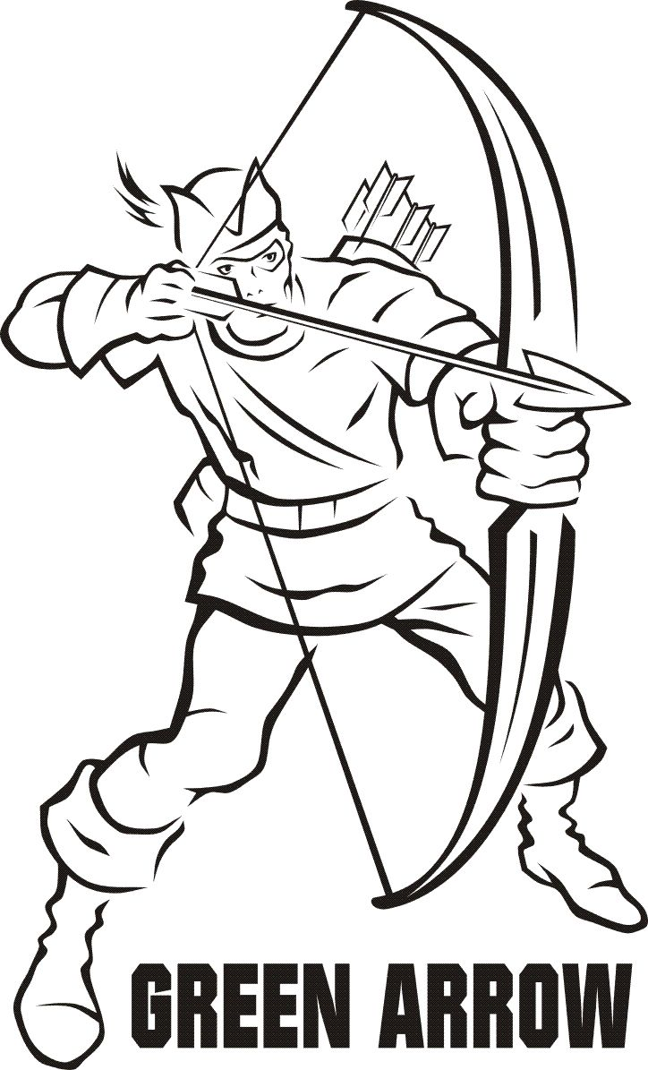 green arrow  cartoon coloring pages coloring pages