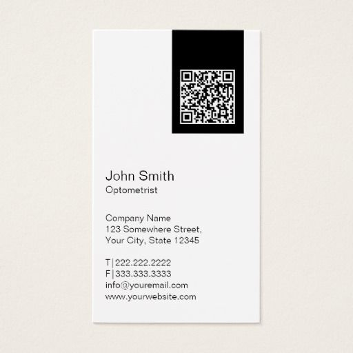 308 best optometrist business cards images on pinterest business black label qr code optometrist business card colourmoves Images