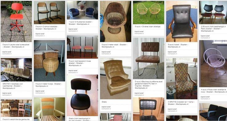 Meer dan 1000 idee u00ebn over Tweedehands Stoelen op Pinterest   Fauteuil, Fauteuils en Ligstoelen