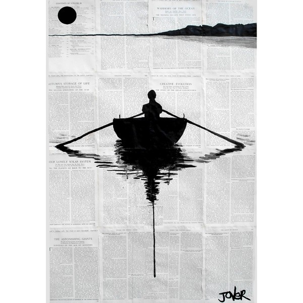 "Saatchi Online Artist: Loui Jover; Pen and Ink, Drawing ""a simple... ($450) ❤ liked on Polyvore"