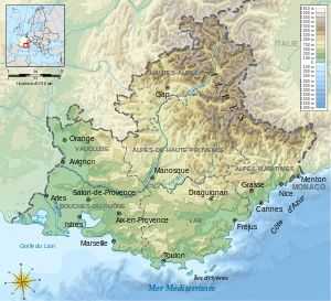 Antique Map of Provence