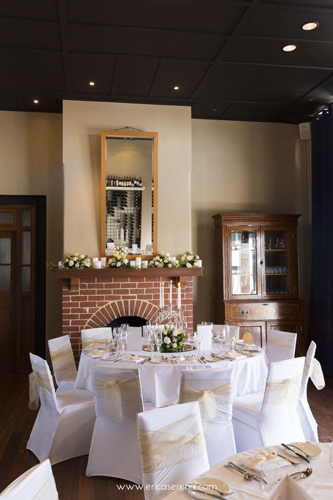 Chandelier Centerpieces in the Wine Room