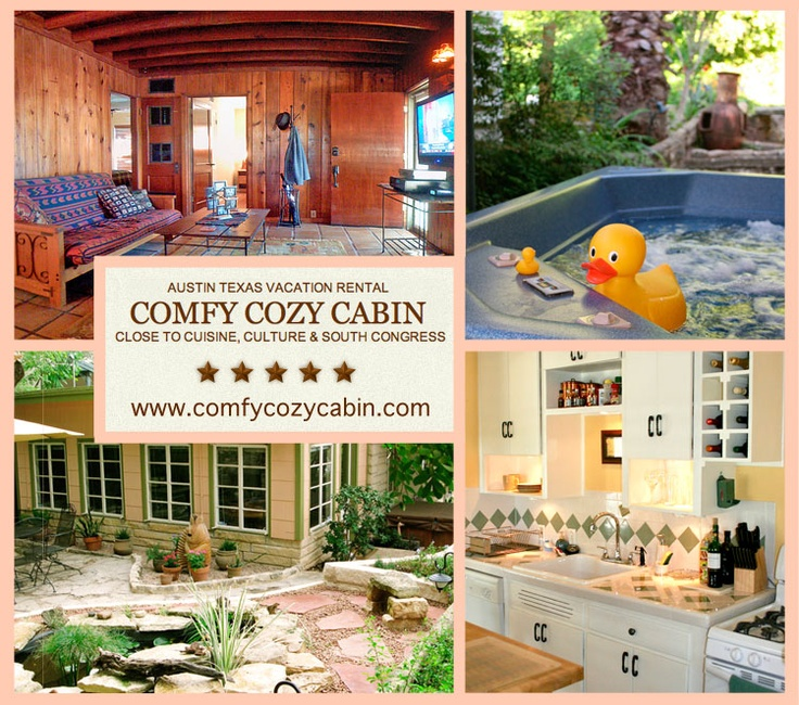 A comfy cozy cabin close to cuisine culture south for Austin cabin rentals