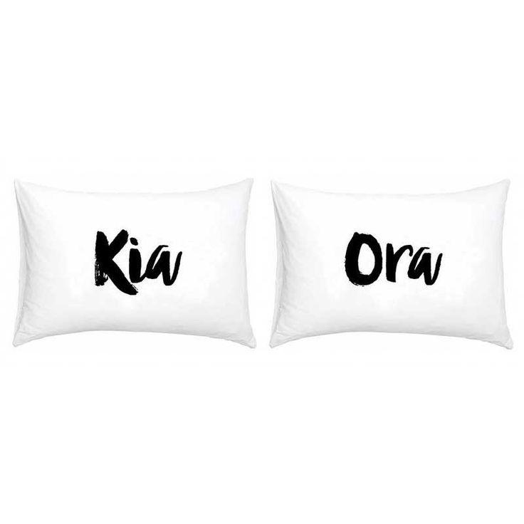 New Zealand Kia Ora Double Pillowcase Set