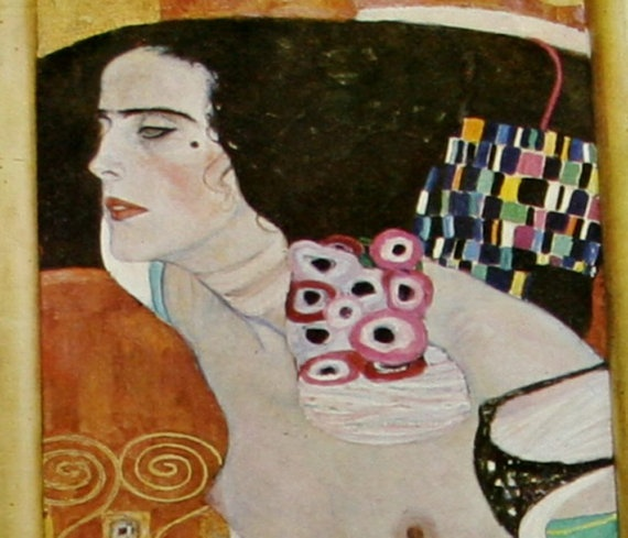 Large 1979 Gustav Klimt Print Buenas Aires Printed Woman
